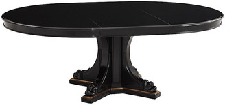 Ralph Lauren Home Empire Pedestal Table - Black Ebony/Brass