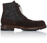 Barneys New York Men's Wingtip Boots-BROWN