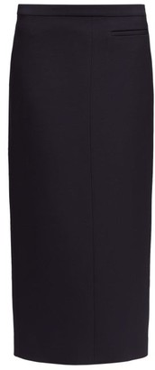 The Row Pol Slit-hem Wool Skirt - Black