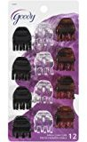 Goody Claw Clips Set Of Small Claw Clips In Dark Brown, Clear, Light Brown
