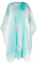 Kenzo abstract print layered dress