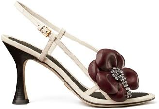 Tory Burch Flower Heel Sandal