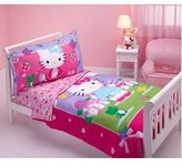 SANRIO Hello Kitty -Springtime Friends 4-piece Toddler Bedding Set Bonus Towel