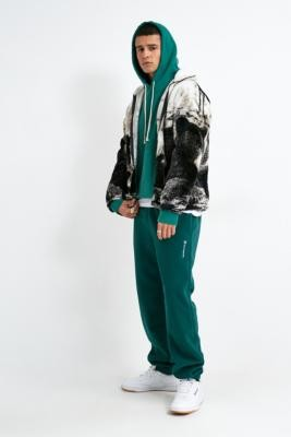 Champion UO Exclusive Teal Banded Fleece Joggers - blue S at Urban Outfitters