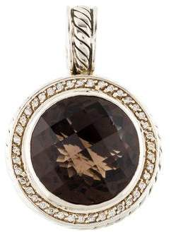 David Yurman Smoky Quartz & Diamond Cerise Pendant