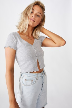 Supre Bria Short Sleeve Button Up Tee