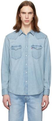 Levi's Levis Blue Denim Bartsow Western Shirt