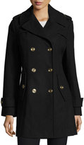 MICHAEL Michael Kors Double-Breasted Wool-Blend Coat, Navy
