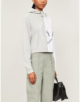 Calvin Klein Graphic-print cotton-jersey hoody