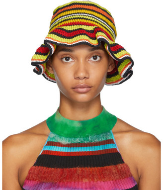 AGR SSENSE Exclusive Multicolor Crochet Bucket Hat