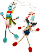 Holiday Lane Set of 2 Felt Animal Ornaments, Created for Macy's
