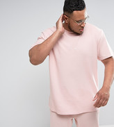 Puma PLUS Waffle Oversized T-Shirt In Pink Exclusive to ASOS