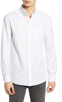 Wax London Thirsk White Button-Down Oxford Shirt