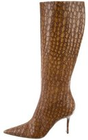 Alessandro Dell'Acqua Embossed Knee-High Boots