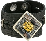 Leather Rock B815 Bracelet