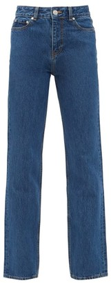 Ganni High-rise Straight-leg Jeans - Denim