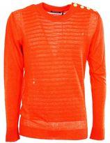Balmain Embossed Striped Sweater