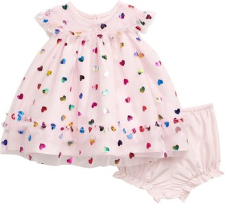 Pippa & Julie Foil Hearts Dress