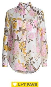 Lord & Taylor Floral Print Button-Down Shirt