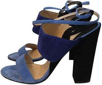 Paul Andrew Blue Leather Sandals