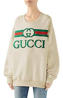 Gucci Women's Heavy Felted Cotton Sweatshirt