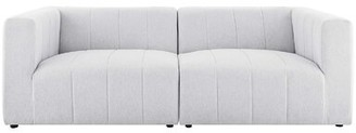 "Modway Bartlett 87"" Wide Square Arm Modular Sofa Fabric: Irovy 100% Polyester"