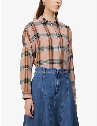 Sessun Tartan wool-blend shirt