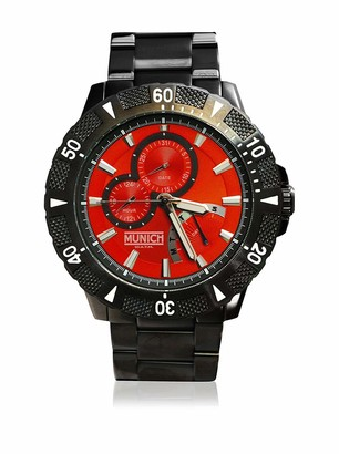 Munich Unisex Adult Analogue Quartz Watch with Stainless Steel Strap MU+104.1B