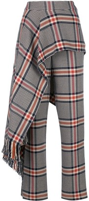 Monse Apron Detail Plaid Trousers