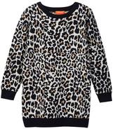 Joe Fresh Leopard Print Sweater Dress (Toddler & Little Girls)