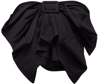 ATTICO Bow-front Cropped Top - Black