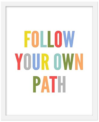Pottery Barn Kids Follow Your Own Path Framed Art