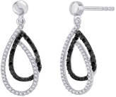 Katarina and White Diamond Fashion Earrings in 10K White Gold (3/8 cttw)