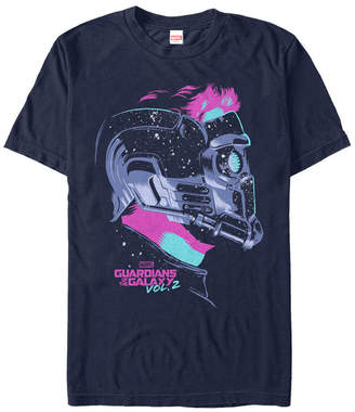 Marvel Men Guardians of the Galaxy Vol. 2 Neon Painted Star Lord Short Sleeve T-Shirt