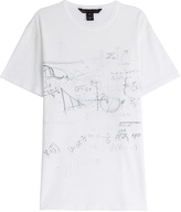 Marc by Marc Jacobs Chalkboard Printed Cotton T-Shirt