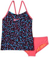 Nike Girls 7-14 Swim Leopard Tankini Swimsuit Set