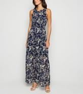 New Look Mela Floral High Neck Maxi Dress