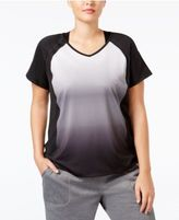 Ideology Plus Size Dip-Dyed T-Shirt, Only at Macy's