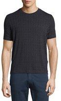 Armani Collezioni Rectangle-Print Crewneck T-Shirt, Blue