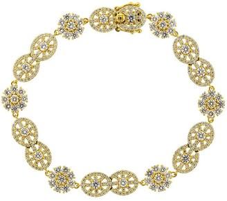 BUDDHA MAMA 20kt Yellow Gold Diamond Mandala Station Bracelet