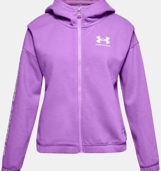Under Armour Girls' UA Rival Fleece Full Zip Hoodie
