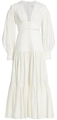 Acler Hinder Puff-Sleeve Maxi Dress