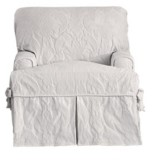 Sure Fit Matelasse Damask 1 Piece Chair Slipcover