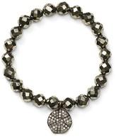 Chan Luu Diamond & Pyrite Stretch Bracelet