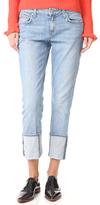 Derek Lam 10 Crosby Mila Slim Boyfriend Cuffed Jeans