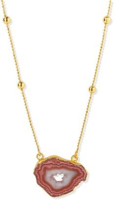Yaa Yaa London Gold Vermeil Caramel Agate Crystal Gemstone Necklace