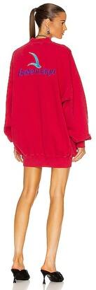 Balenciaga Crew Neck Sweater in Red