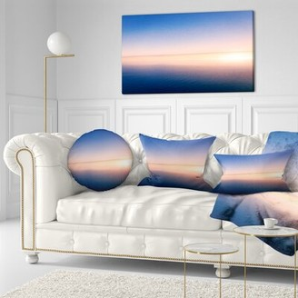 East Urban Home Clear Blue Sky Above Clouds Oversized Beach Throw Pillow