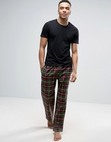 Bjorn Borg Lounge Pants in Khaki Check