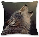 Amiley Cushion Cover Pillow Case , Wolf Sofa Bed Home Decoration Festival Pillow Case Cushion Cover (45cm45cm, G)